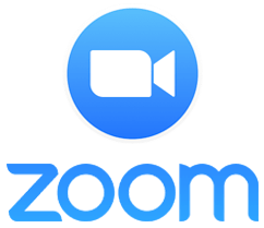 Zoom logo for social distance meetings